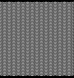 hypnotic waves black white seamless pattern vector image