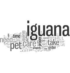 Iguana pets vector