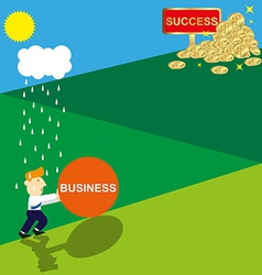 Ladder Of Success vector image