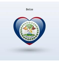 Love Belize symbol Heart flag icon vector