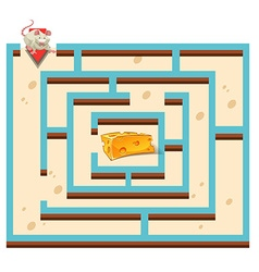 Maze template with mouse and cheese vector