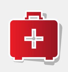 medical first aid box sign new year vector image