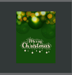 merry christmas glowing green background vector image