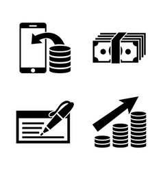 money investing simple related icons vector image