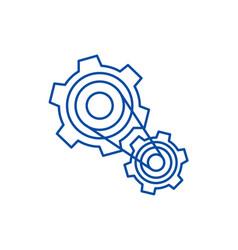 motor settingsengine line icon concept motor vector image