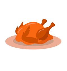 Natural fresh delicious thanksgiving turkey vector