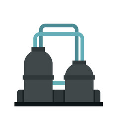 oil refinery plant icon flat style vector image