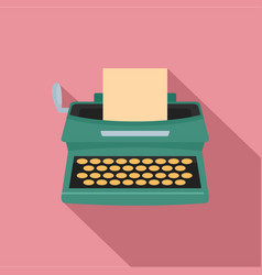 Old typewriter icon flat style vector