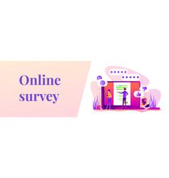 online survey web banner concept vector image