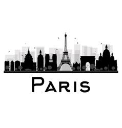 Paris silhouette vector image