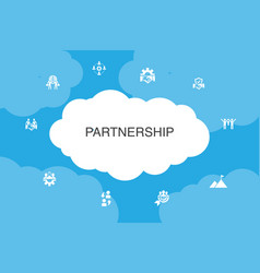 Partnership infographic cloud design template vector