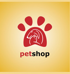 Pet shop cat and dog vector