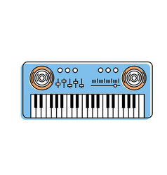 Piano musical instrument to play music vector