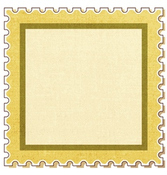 Postage stamp square vector image