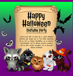 Poster on theme of the halloween holiday sketch vector