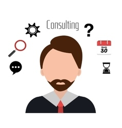 Professional business consulting vector image