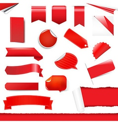 Red Labels And Stickers Set vector image