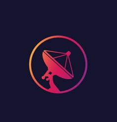 satellite dish antenna icon vector image