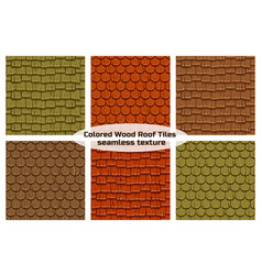 seamless old wood roof tiles vector image
