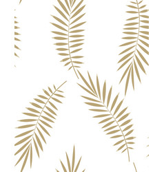 Seamless palm leaf pattern vector