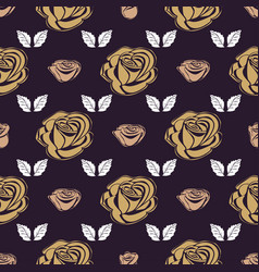 seamless pattern bud roses vector image