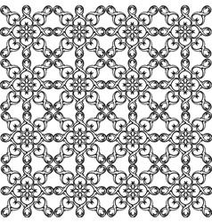 Seamless pattern monochrome ethnic religious vector