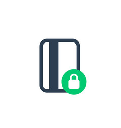 secure payment with card icon on white vector image