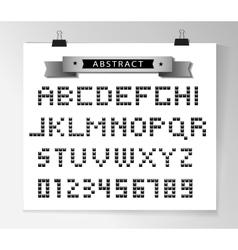 Silver pixel font vector