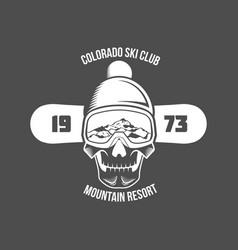 snowboarding badge winter sport vector image