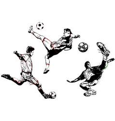Soccer trio vector