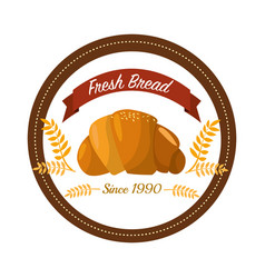 Sticker emblem fresh bread bakery vector