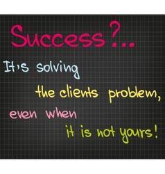 Success of customer service vector