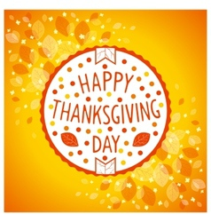 Thanksgiving day sign vector