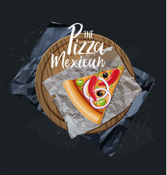 the pizza mexican slice without background vector image