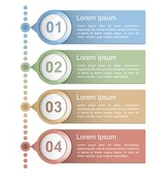 Timeline Design Template vector image