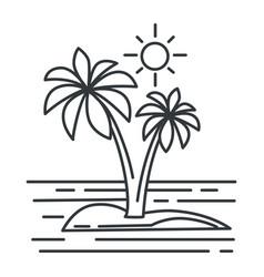 tropical island summer landscape ocean vector image