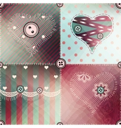 Patchwork pattern with shadow vector image