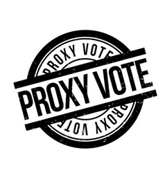 Proxy vote rubber stamp vector