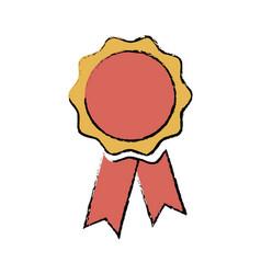 rosette medal winner prize ribbon decoration vector image