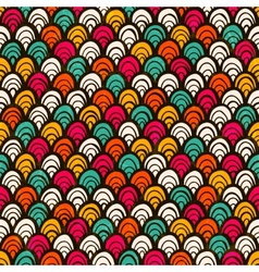 Seamless colorful hand drawn pattern vector image