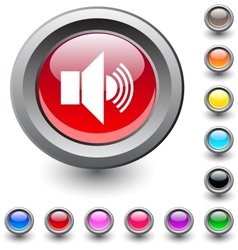 Sound round button vector image vector image