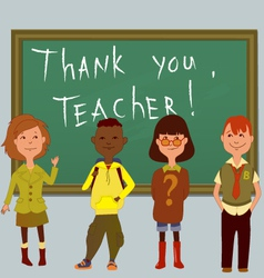 Thank you teacher vector image vector image