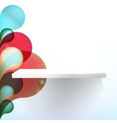 White shelves EPS10 vector image