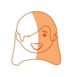 Woman smiling cartoon vector