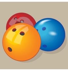 ball Realistic Bowling balls vector image