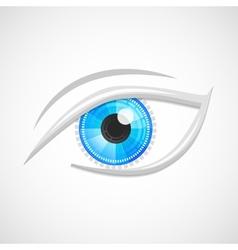 Eyes icon hi-tech vector image