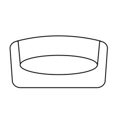 modern chair icon image vector image