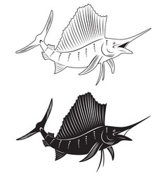fish marlin vector image