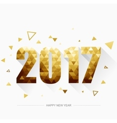 Happy new year 2017 Gold vector image