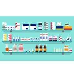 Modern interior pharmacy or drugstore vector image vector image